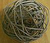Шар плетенный из ротанга 10 см коричневый, фото 6
