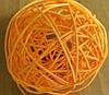 Шар плетенный из ротанга 10 см оранжевый, фото 7