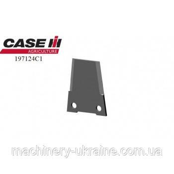 Нож измельчителя комбайна case 197124C1 (закаленный)