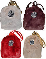 Женский городской рюкзак c натуральным мехом