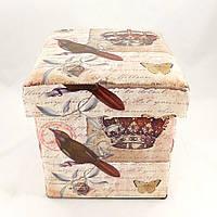 Пуфик банкетка с ящиком в стиле Шебби Шик складной