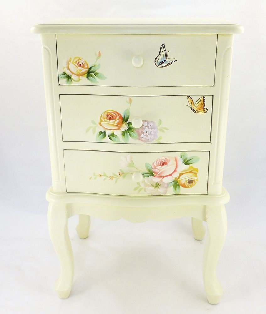 Комод Прованс с 3-мя ящиками – Две бабочки
