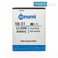 Nomi Аккумулятор (батарея) Nomi NB-51/ i500 Sprint оригинал ААAA +ПОДАРОК