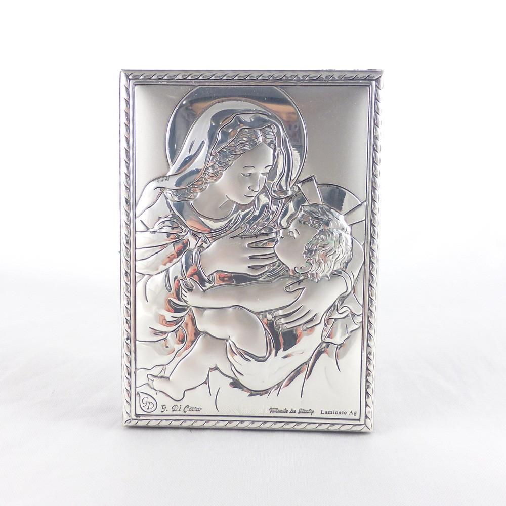 Икона Святая Мария на деревянной основе