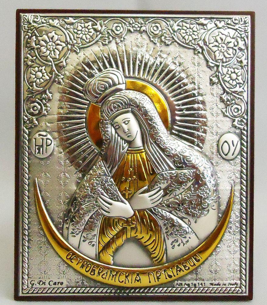 Икона Зарваницкая Божией Матери на деревянной основе