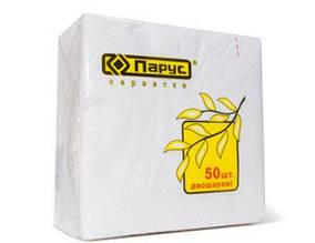 Бумажные салфетки «Парус 50 двухслойные», 100% целлюлоза