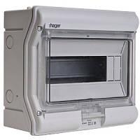 Щит распределительный на 10 модулей, с / у с прозрачными дверцами, IP65, VECTOR