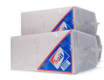 Бумажные салфетки, 100% целлюлоза «Sail Big Pack 400», фото 2
