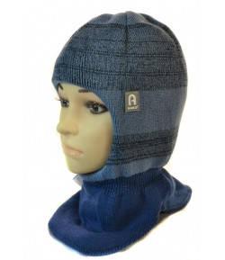 Шапка шлем для мальчика 50-52