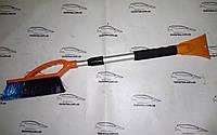 Щетка для чистки снега с авто телескопическая со скребком