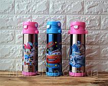 Термос з поїлкою/термокружка з трубочкою дитячий/дитяча в стилі DISNEY