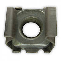 Металлический фиксатор брызговиков-подкрылок , внутри квадратная гайка с резьбой М5 Alfa Romeo, Fiat, и д.р.