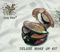 Косметический набор тени для век+румяна+тушь+карандаш+жидкая помада Ruby Rose, фото 1