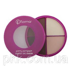 Тени для век Flormar Pretty Compact Quartet Eyeshadow