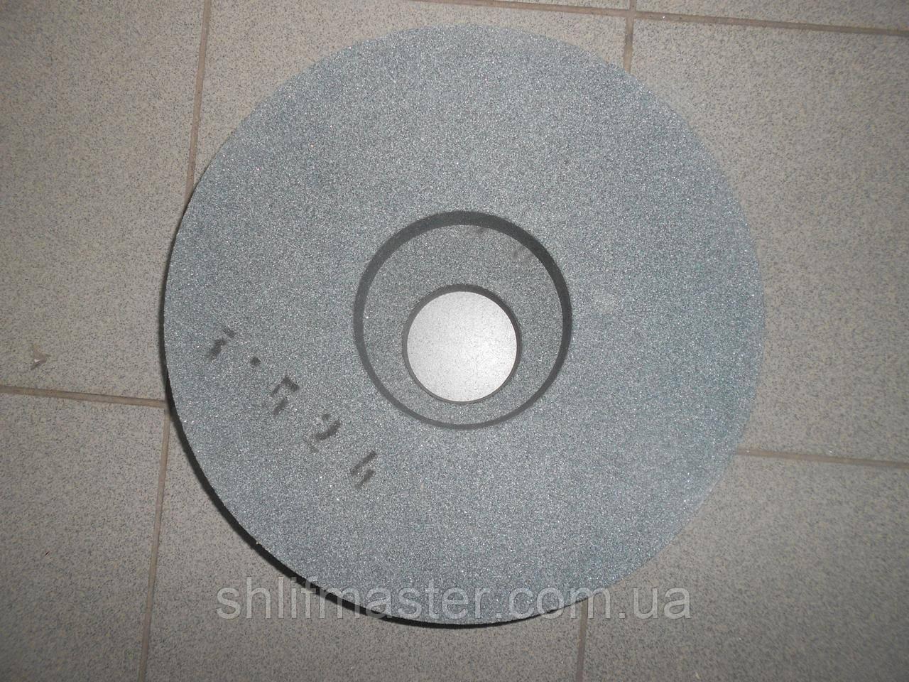 Круг абразивный шлифовальный из карбида кремния 64С (зеленый) 300х10х127 10 СМ-12 С1