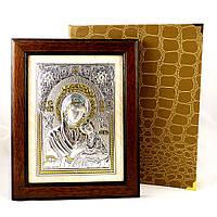 Икона Богородицы Неустанной Помощи в деревянной рамке в шкатулке