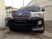Юбка переднего бампера Toyota Land Cruiser 200 Platinum Edition