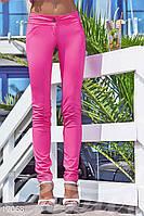 Узкие розовые брюки Gepur 17068