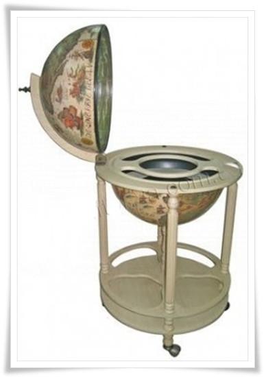 Глобус бар напольный 420 мм цвет слоновой кости 42003W