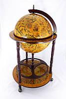 Глобус бар напольный на 3 ножки 420 мм коричневый