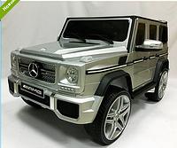 Электромобиль детский Джип Ева колеса+кожа Mercedes G65 VIP M 3567 EBLRM-11 Матовый-серебро