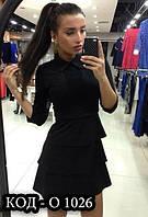 Платье женское с баской Пьеро