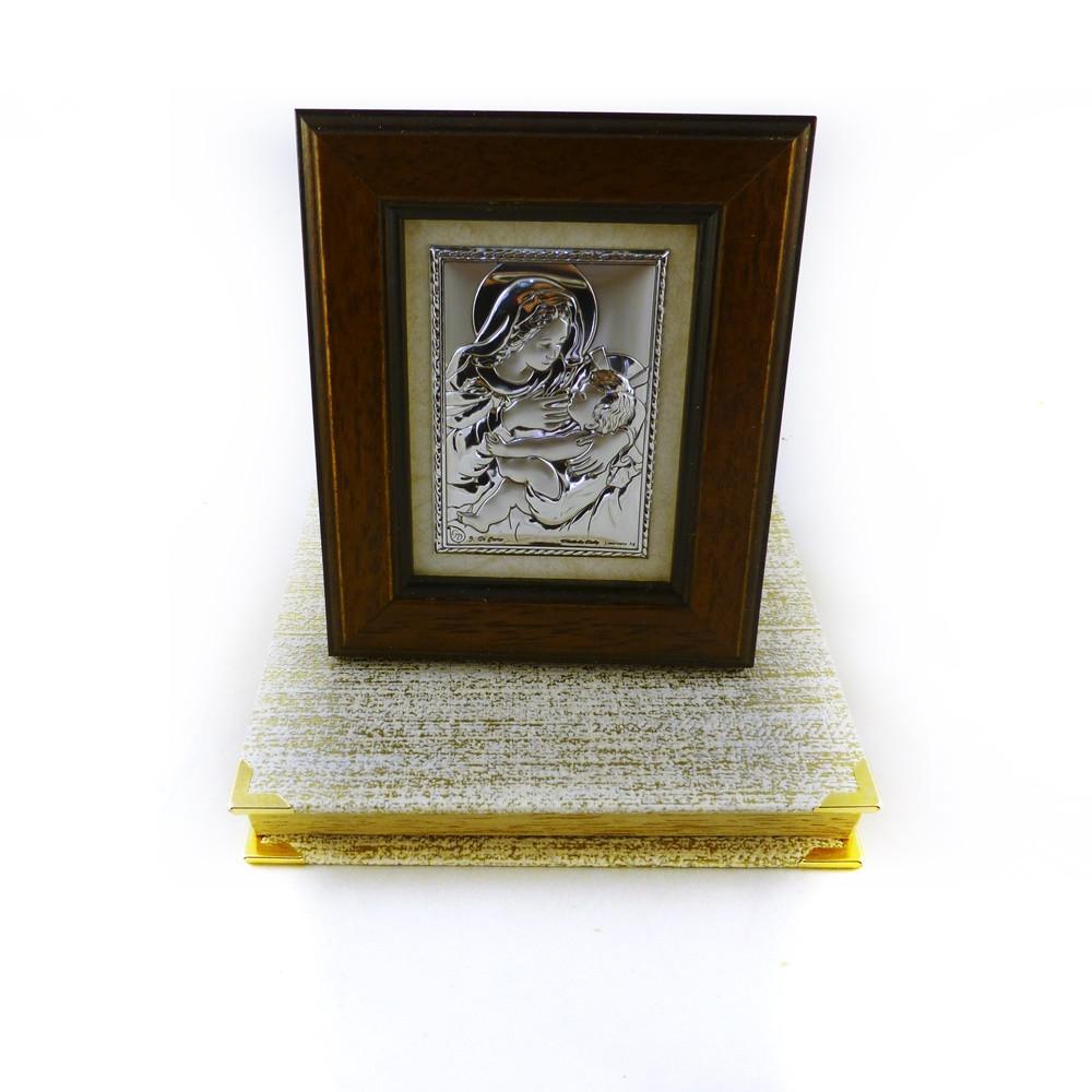 Икона Кормящая в деревянной рамке