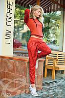 Красный спортивный костюм из дайвинга Gepur 13170