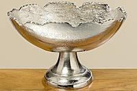 Деко-чаша на подставке Flaire серебро L21