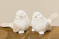 Статуэтка птица Пелле бежевая керамика h10см