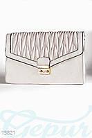 Фактурный кожаный клатч Gepur 15821