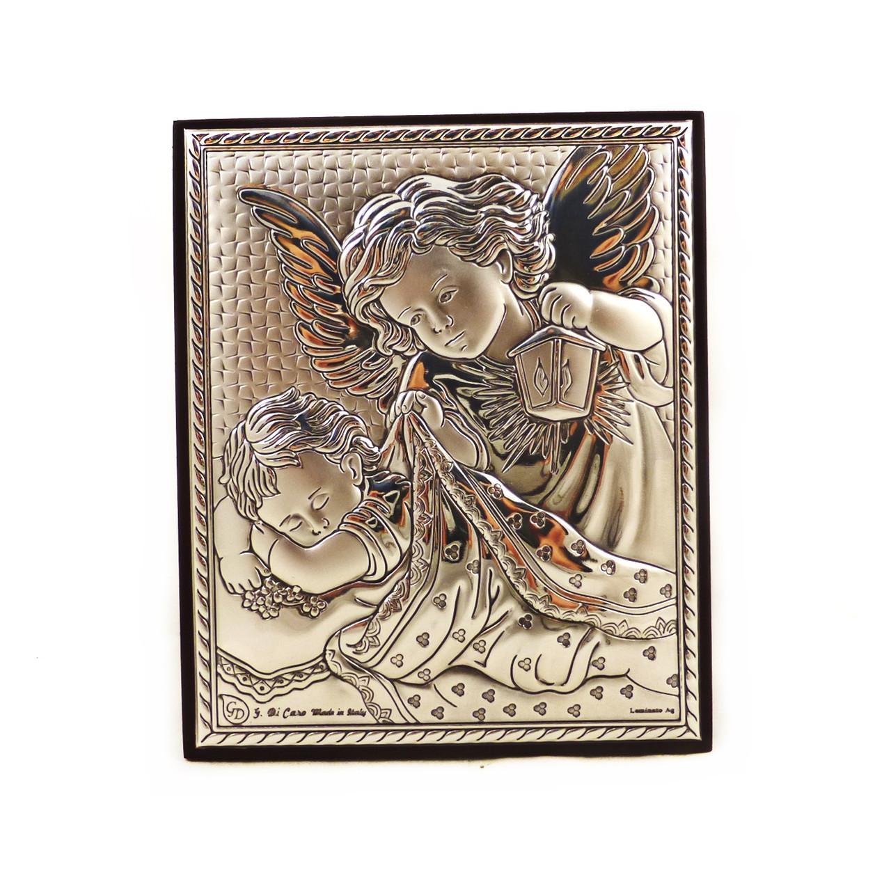 Икона Ангелочки на деревянной основе