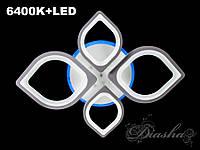 Потолочная светодиодная люстра 100W 8073-2+2WHLED
