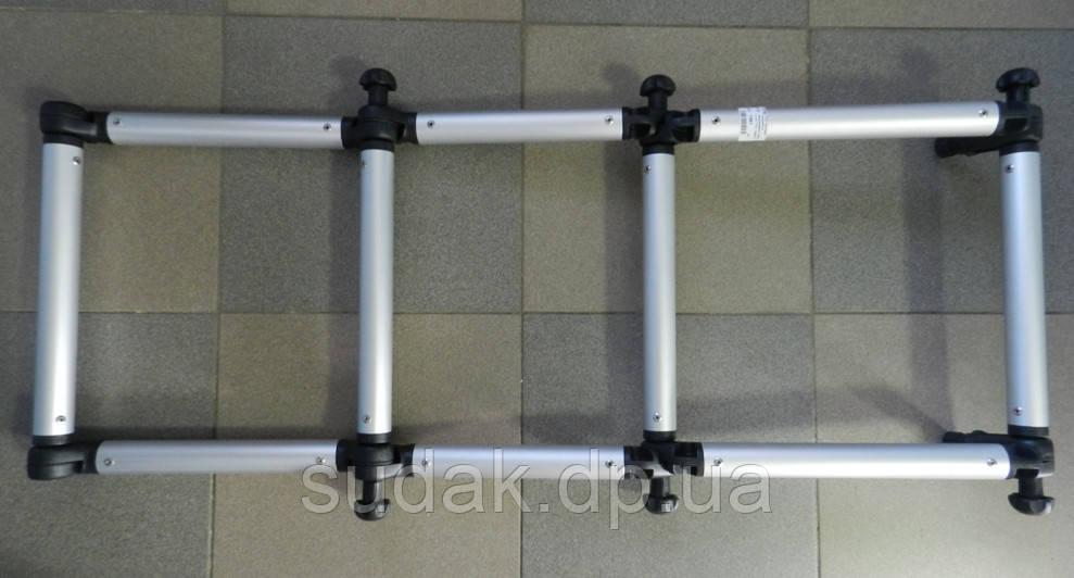 FI032 Лестница складная из алюминиевой трубы ø 32(130кг лодка от 3,5м)