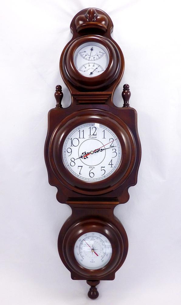 Часы настенные Дипломат барометр/термометр/влагомер