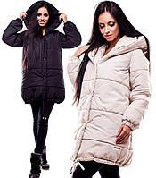 Молодежная зимняя куртка Юнис с капюшоном (42-46 в расцветках)