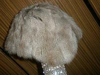 Натуральная меховая шапка из белки