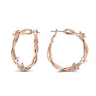 Модные позолоченные серьги кольца код 1298