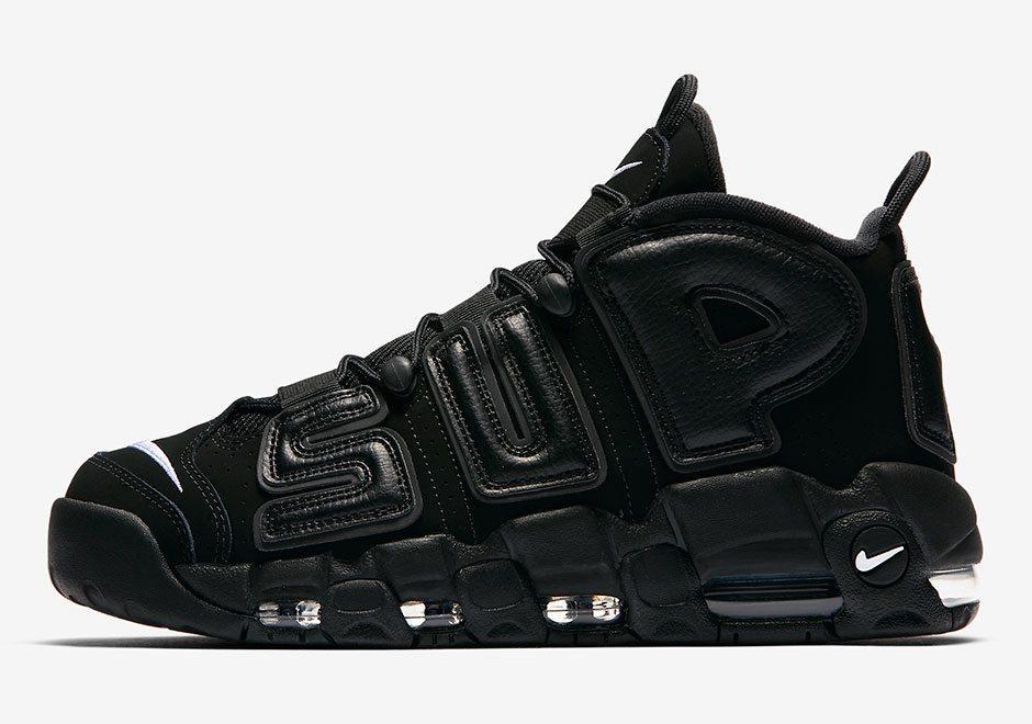 Мужские кроссовки Nike Air More Uptempo 'Black Supreme (в стиле Найк-Суприм )