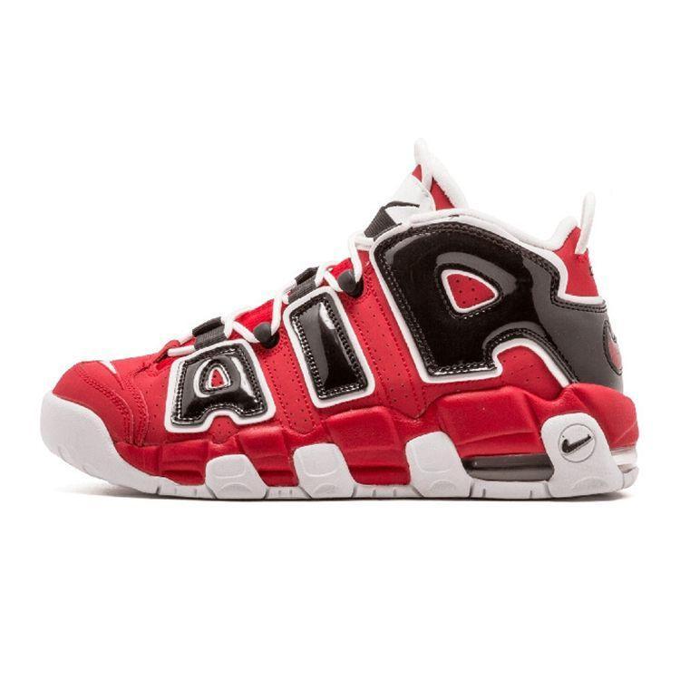 Мужские кроссовки Nike Air More Uptempo Red White Black ( в стиле Найк )