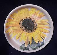 Декоративная тарелка в технике декупаж, дерево, ручная работа, 15-16 см, 145/115 (цена за 1 шт. + 30 гр.)