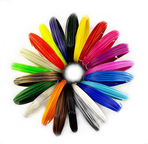"Набор ПЛА PLA пластика для 3D ручки 22 цвета 220 метров, ""Leonardo da Vinci"" , фото 2"