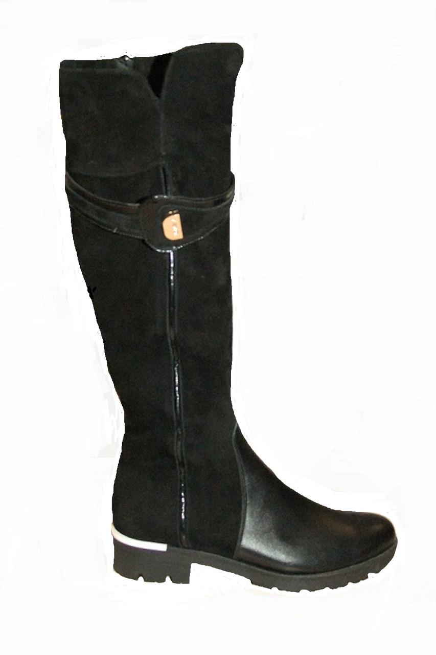 Сапоги кожаные женские черные 36-41 р от производителя