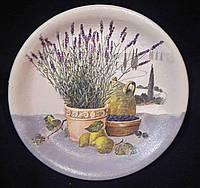 Декор - декупажная тарелка из дерева, 15-16 см,145/115 (цена за 1 шт. + 30 гр.)
