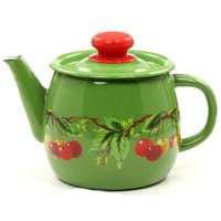 Чайник эмалированный (1 л) Epos Зеленая вишня, арт. 2707/4Ч