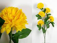 Цветок декор Хризантема  желтая