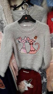 """Детская нарядная кофта  для девочки """"Кошки"""""""