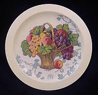 Круглая тарелочка в технике декупаж, деревянная, 22 см,180/150 (цена за 1 шт. + 30 гр.)
