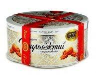 Торт БКК Грильяжный глазурированый с белой глазурью 850 гр