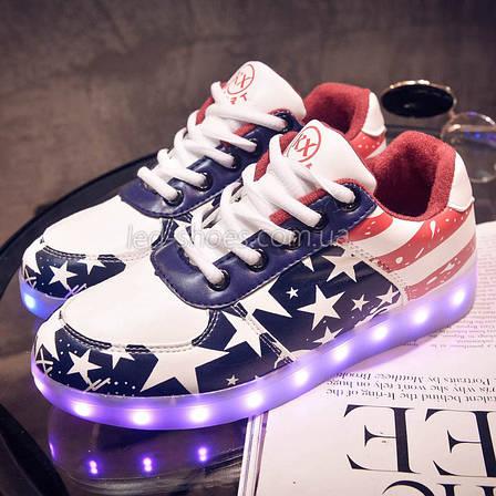 LEd кроссовки Американский флаг на шнурках 5103  продажа, цена в ... 939530a5499